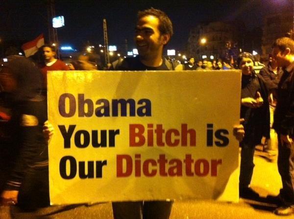 Egypt Obama Banner #5