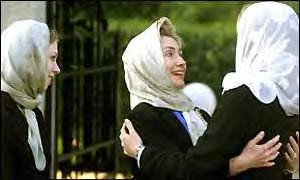 Hillary and Chelsea Hijab
