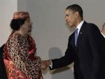 Obama and Ghadaffi