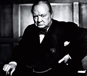 Churchill scowling