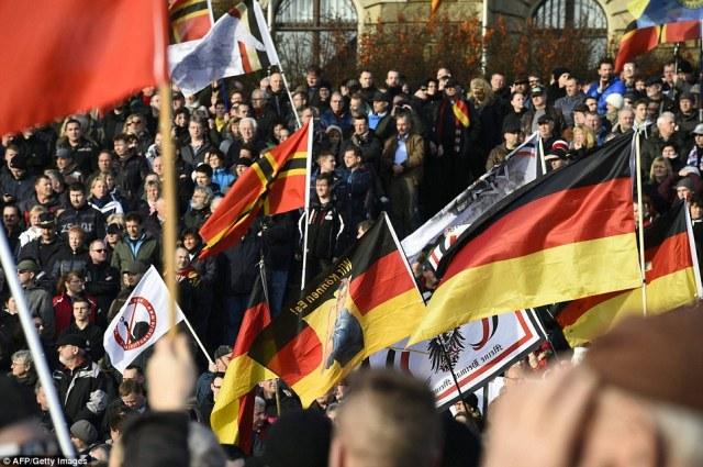 PEGIDA Rally Dresden